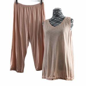 Eileen Fisher Garnet Hill Pink Tank Pant Sleepwear
